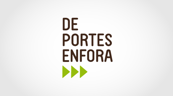 Logotip De Portes Enfora, imatge corporativa, imatge corporativa terrassa, disseny logo, disseny gràfic terrassa, estudi disseny gràfic