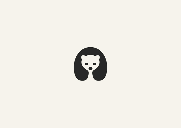 Disseny gràfic: icones minimalistes d'animals en negatiu