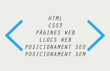 Vocabulari i conceptes del programació web i mkt online