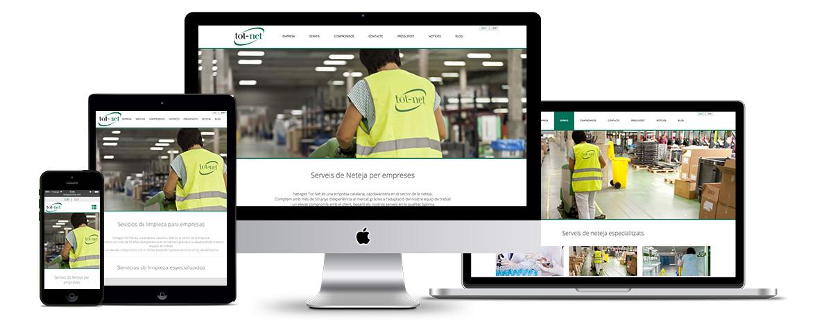 Nou projecte web i màrqueting online: Neteges Tot Net