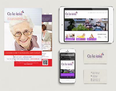Projecte Imatge Corporativa + Web Ca la Iaia