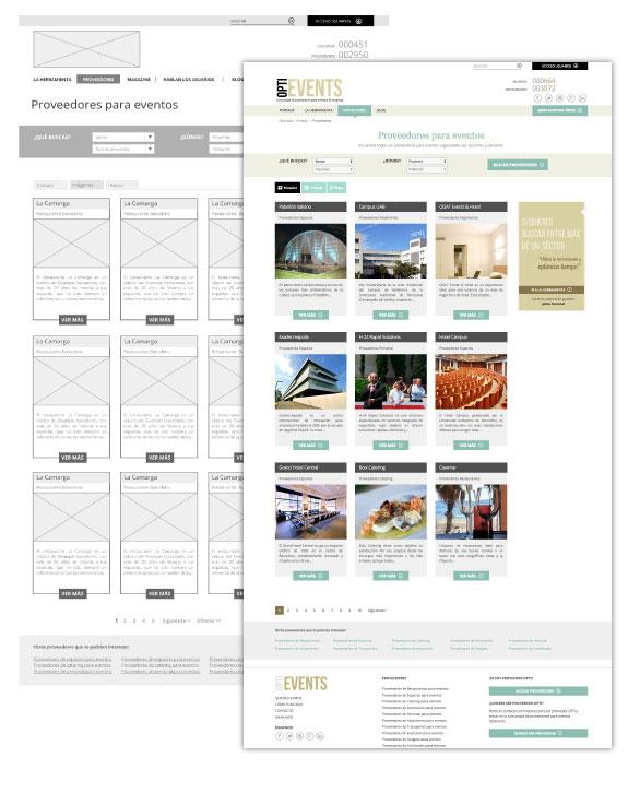 Optievents plataforma web proveedores